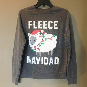 "MIGHTY FINE ""Fleece Navi dad"" Sweater Shirt Sz S"